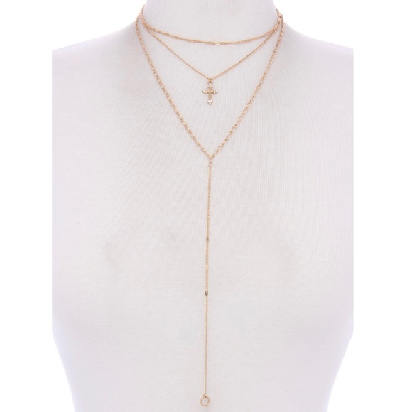 Jewelry - Cross layer necklace